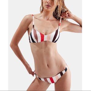 ⭐️HOST PIC⭐️ Solid & Striped Rachel Bikini Size M